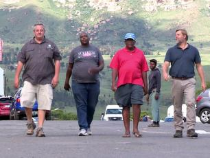 Harrismith water heroes (still from Carte Blanche film footage)
