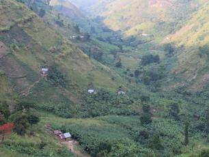 Rural village in Kabarole district, Uganda