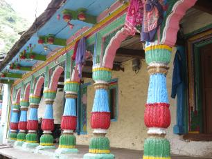 Colourful house in Uttarakhand