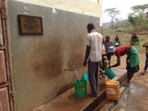 Tapping water in Karagwe district, north western Tanzania