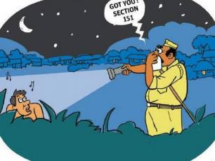 Indian anti-open defecation cartoon