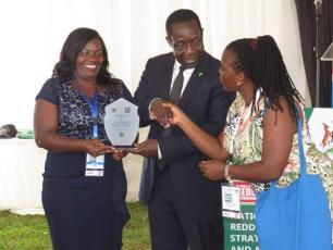 Lydia Biira and Lydia Mirembe receive IRC's award