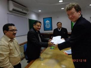 The MoU was signed by NIAR Director General Mr. Kush Verma IAS, and IRC Manager, South Asia & Latin America Team, Joep Verhagen on behalf of the IRC Director Nico Terra. Also present at the function were T.M. Vijay Bhaskar IAS, Joint Secretary, GoI, Ministry of Drinking Water and Sanitation, Dr Kurian Baby IAS, India Country Director and Senior Programme Officer – South Asia, IRC and Dr. B.S. Bisht, Associate Professor & Nodal Officer, National Key Resource Centre (Water & Sanitation), NIAR-LBSNAA, Mussoori