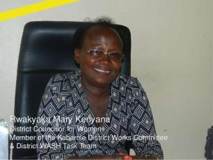 Rwakyaka Mary Kenyana, Kabarole District Councilor for Women, and member of the District WASH Task Team