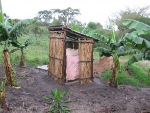 A rural latrine providing protection and privacy