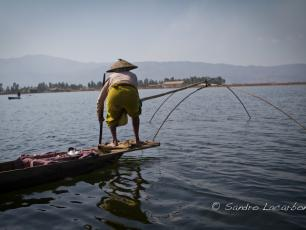 Loktak Lake fisherman, Manipur, India