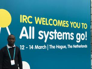 Lukas Kwezi at the IRC symposium