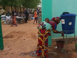 Handwashing facility at health center in Mali