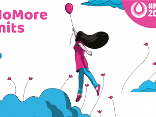 Menstrual Hygiene Day balloon: #NoMoreLimits - Good menstrual hygiene empowers women and girls to rise