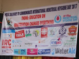 Partners joined hands to mark the 2017 MHM Day in Uganda