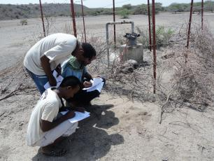 Data collection at Mille Woreda, Afar