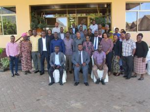 RUWASA management, and representatives from various government institutions meeting in Morogoro (photo credit of RUWASA)