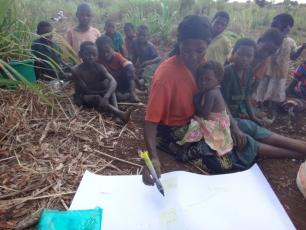 Participant drawing network in Malawi