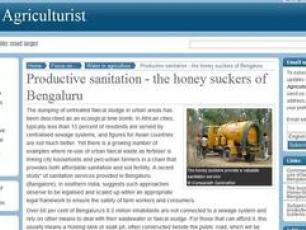 "The July 2012 issue of the New Agriculturist features a story about the ""honey-suckers"" of Bengaluru, which is based on a case study published by IRC."
