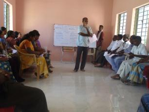 participatory training on the concept of Water Budgeting