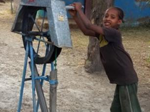 Rope pump in Dugda Woreda, Oromiya Region