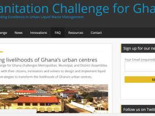 snapshot of SC4Ghana website