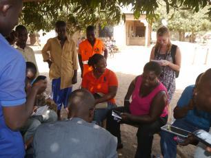 Using FLOW on mobile phones in Ghana