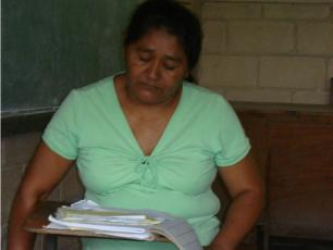 Treasurer of water committee in Chinda, Honduras