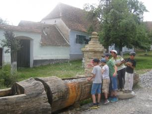 Traditional standpost in rural Romania