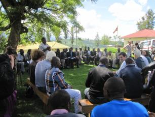 Meeting in Uganda (by Peter McIntyre)