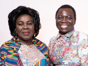Hon. Cecilia Abena Dapaah, Ghana's Minister for Sanitation and Water Resources and Vida Duti, IRC Ghana Country Director
