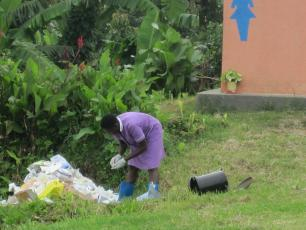 Waste disposal at healthcare facility in Kabarole, Uganda