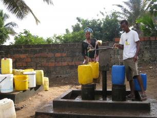 Water pump in Mozambique