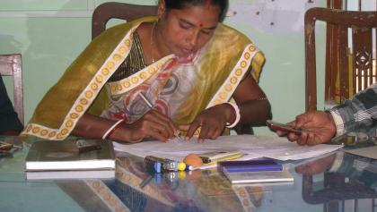 Pradhan in Patharpratima