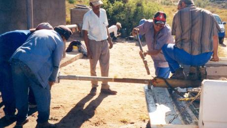 Dismantling a borehole in South Africa