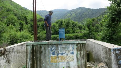 Water tank in Uttarakhand, India
