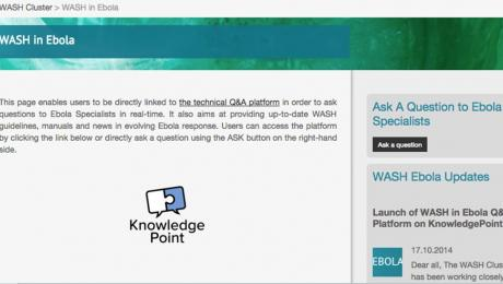 KnowledgePoint webpage on Ebola
