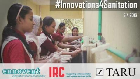 Partner logos of the Sanitation Innovation Accelerator