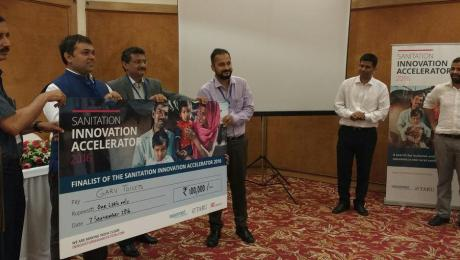Mayank Midha receives Sanitation Innovation Accelerator award