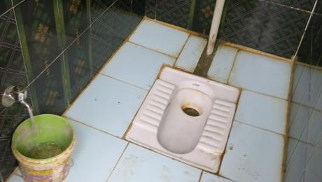 Tap and toilet in India