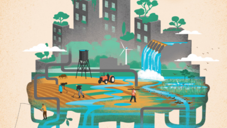 Nature-based solutions for water. Illustration for World Water Development Report 2018. Courtesy UNESCO and UN-Water