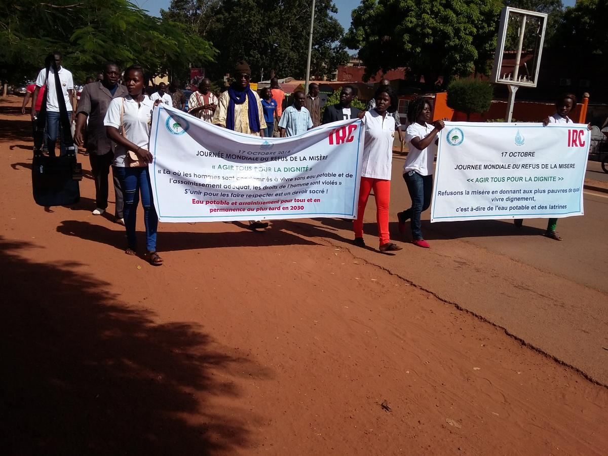 International Day for the Eradication of Poverty march in Bukina Faso