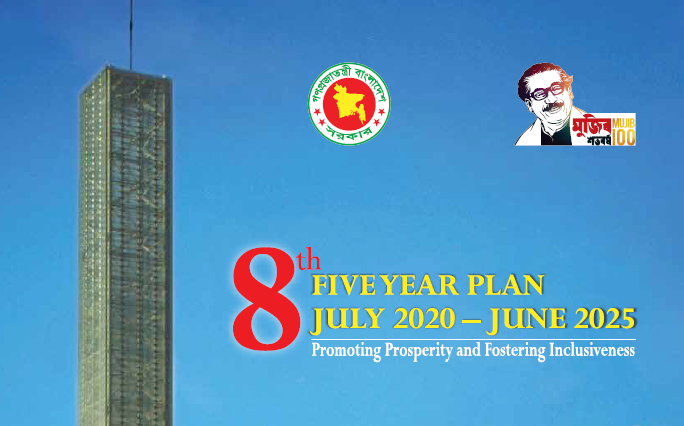 Cover of Bangladesh's Eighth Five Year Plan (July2020 - June2025)