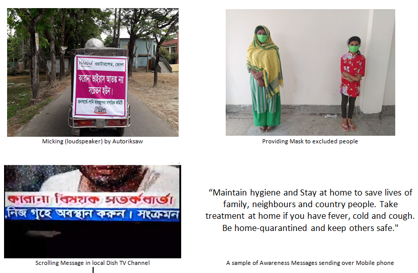 Awareness messages on coronavirus at Bhola, Bangladesh