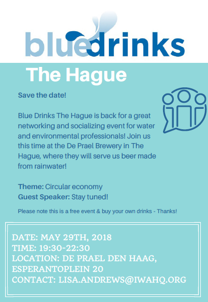 Blue Drinks The Hague Edition II Save the Date