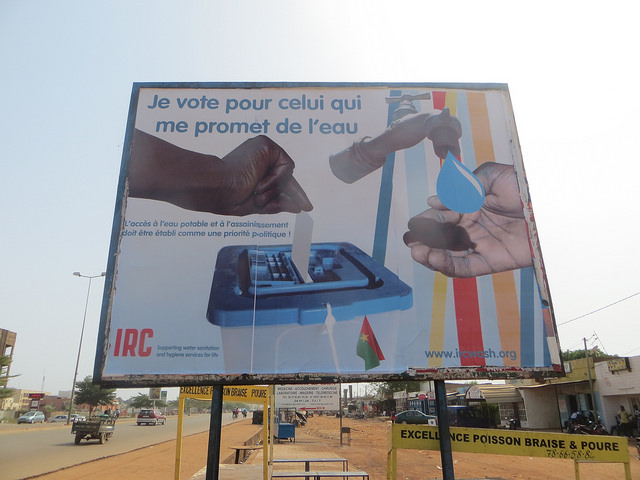 Poster for the presidential elections in Burkina Faso