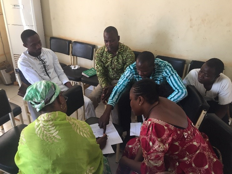 Disseminating EWI findings in Banfora, Burkina Faso