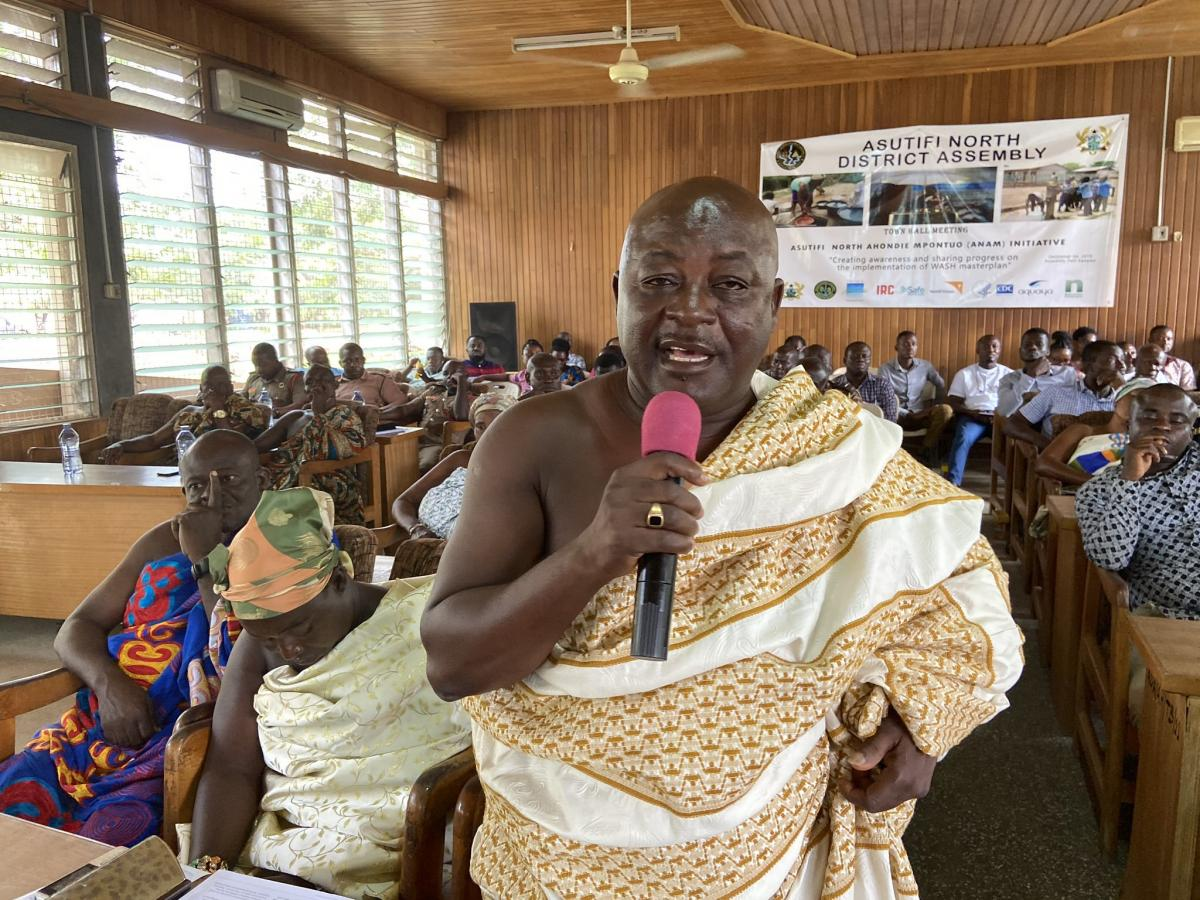 Ghana - Asutifi North district assembly and partners town hall meeting