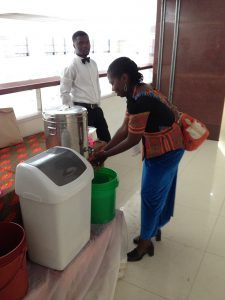 Handwashing facility during the 6th Africa Water Week.