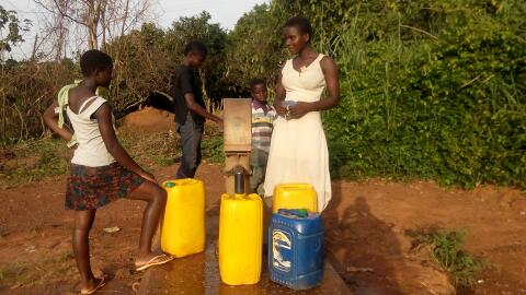 Fetching water in rural Ghana
