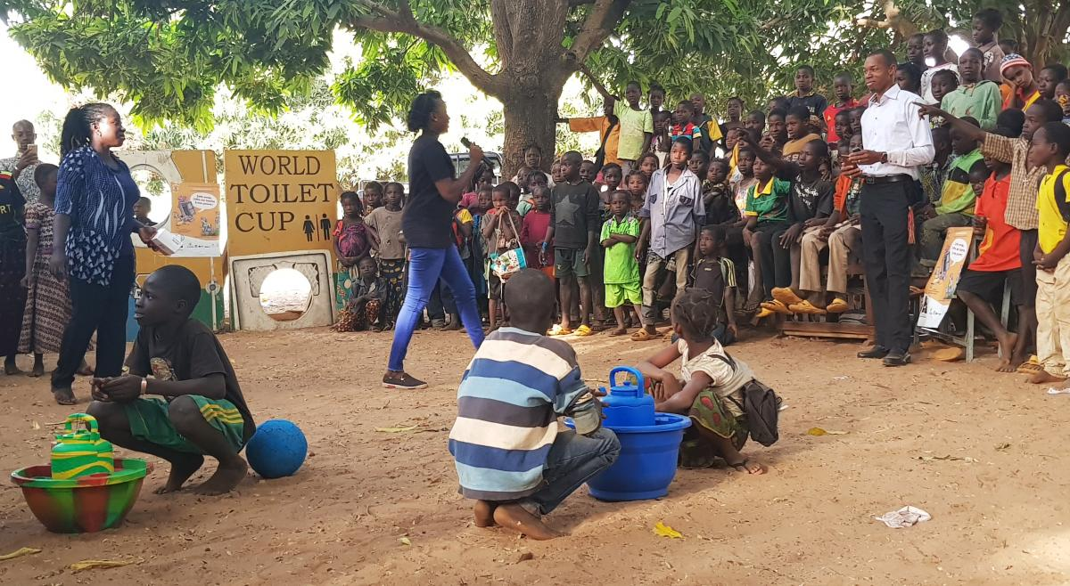 WASH united school event in Banfora district