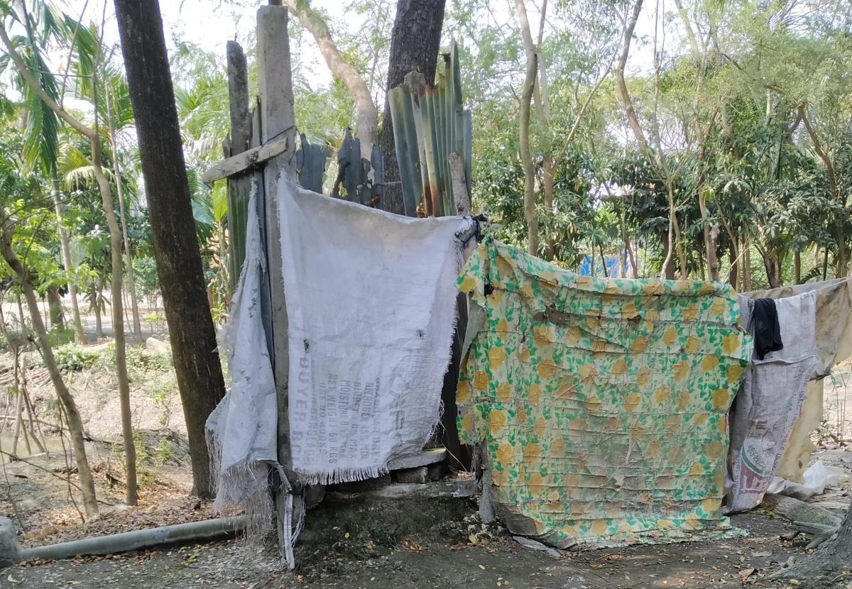 Sanitation facility of a hardcore poor family, Ramgati Bangladesh