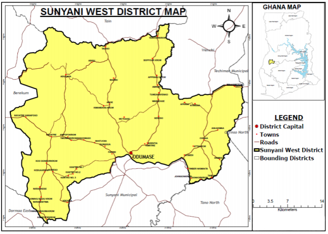 Sunyani West District in Ghana
