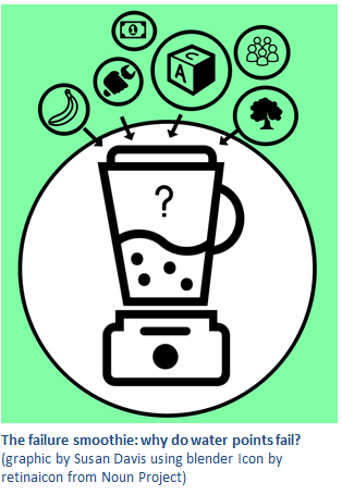 The failure smoothie:Why do water point fail?