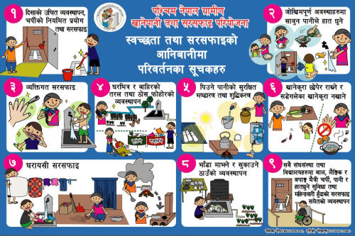 Hygiene and Sanitation indicators – Nepali. RWSSP-WN